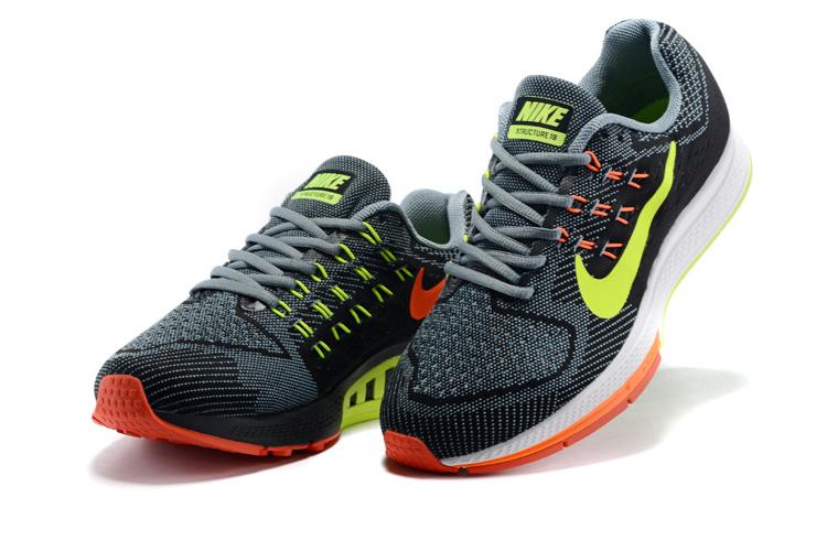 official photos d1276 7e632 Structure chaussure,air zoom structure noir et orange et verte homme - s3