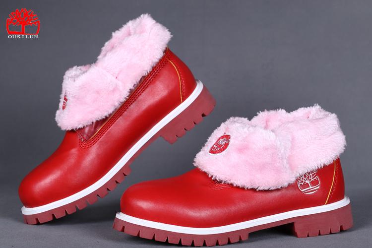 bottes timberland rouge
