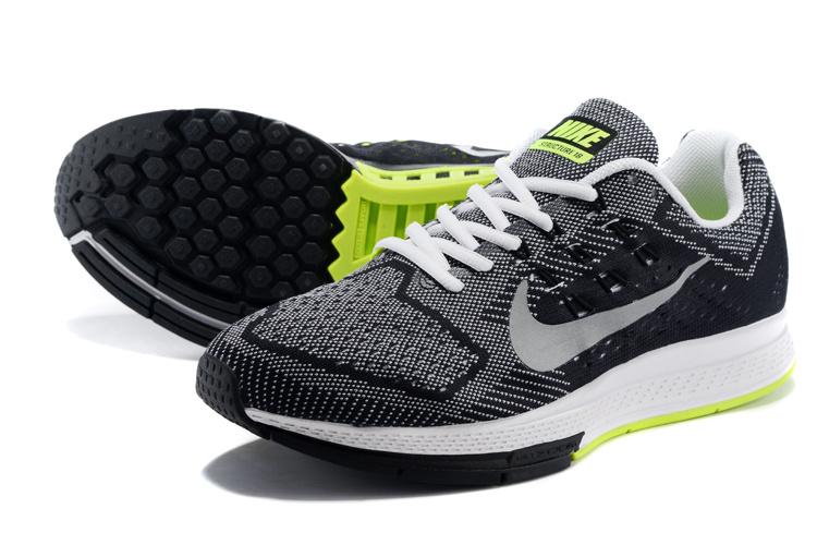 the best attitude a7ebf 12e91 chaussure nike Structure,air zoom structure noir et gris et verte homme - s1