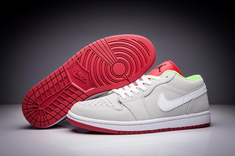 huge discount 428b7 ed1fd chaussures retro,femme air jordan 1 low gris et blanche