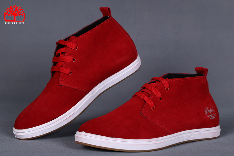 timberland rouge homme pas cher