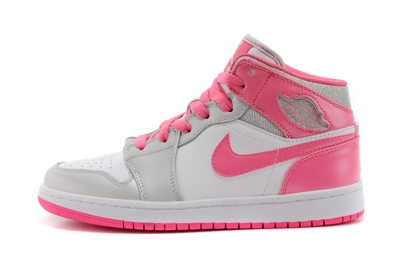 nike air jordan mid 1,femme air jordan 1 high blanche et rose