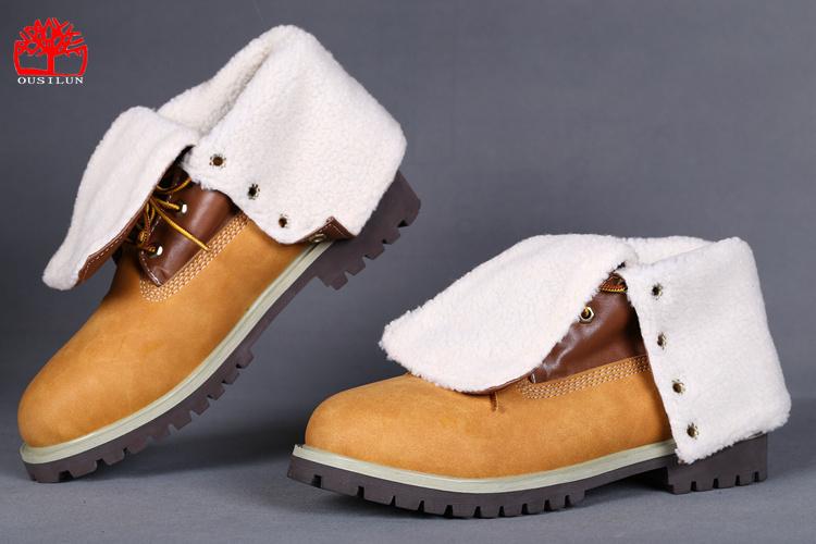 Jaune Timberland Femme femme Boots Hiver Fleece eHDE29IWY